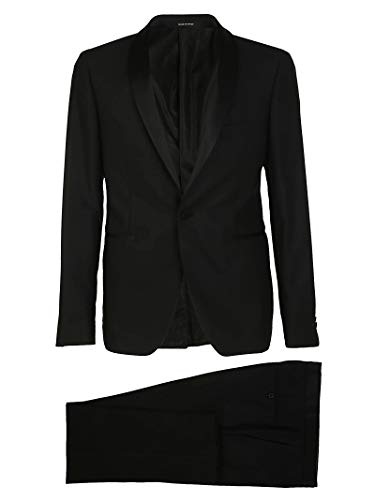 Men's Black Suit Tagliatore Sfbr18a0106uea254n3185 Wool BwqdB8F