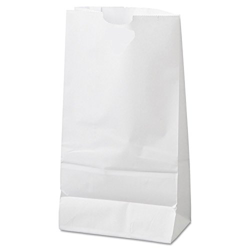 6lb White Rainbow Paper Bags (100Pcs/Pack) -