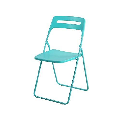 (LGQ-LIFE Plastic Folding Chair Portable Dining Chair Kitchen Bar Multi-Purpose Folding Stool, Multi-Color Optional (Color : Tiffany Blue))