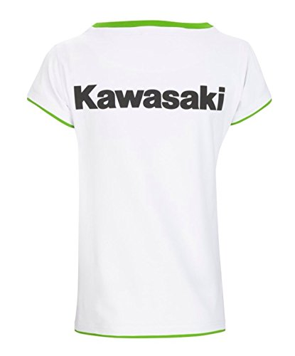 Kawasaki Sports T-Shirt Top kurzarm ! weiß von BikerWorld