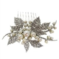 SimanTu Crystal and Pearl Pin/Comb