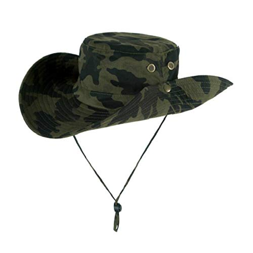 Amazon.com  Bingo Point which in Shower Large Brim Fishing hat Camouflage  Wide Brim Bucket hat Men Women camo Fisherman Summer Sun bob Beach Panama   Kitchen ... 1b35c98df580