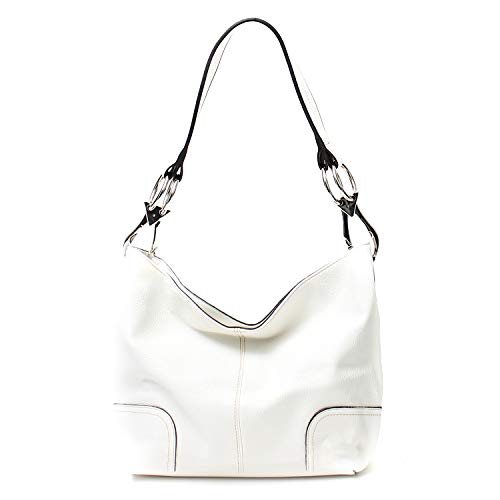 Americana Bucket Style Hobo Shoulder Bag with Big Snap Hook Hardware
