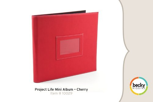 Project Life by Becky Higgins Mini Album - Cherry
