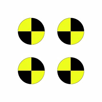 4x 1 5 crash test target symbol color sticker decal die