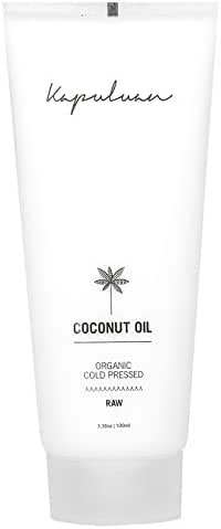 Kapuluan Raw Organic Coconut Oil Tube - Cold Pressed Organic Coconut Oil for Hair - Coconut Oil for Skin and Face - Travel Coconut Oil Squeeze Tube (3.38oz) - The Finest Quality Coconut Oil