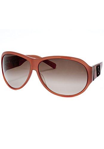 Fendi Sun Men's Fendi FS 472M 639 Rusty Plastic Aviator Sunglasses Grey Gradient Lens, Red, -