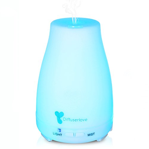 Diffuserlove MAX 200ML Essential Oil Diffuser Ultrasonic Aromatherapy Diffuser Mist Humidifiers with 7 Color LED Lights and Waterless Auto Shut-Off for Bedroom Office House Kitchen Yoga
