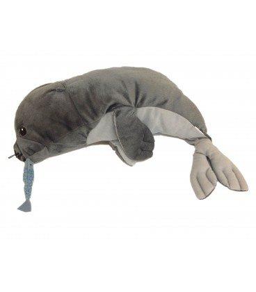 Peluche Peluche foca gris otarie con sonido peces – IKEA – L 38 cm