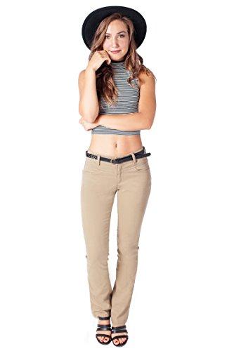 Womens Bootcut Khaki Pants - 2