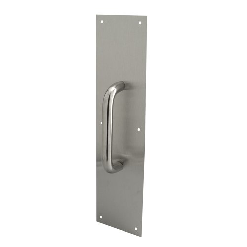 Prime-Line Products J 4717 Pull Plate, 3/4 Round Handle, 3.5 X 15-Inch, 630 Stainless