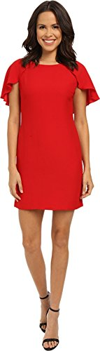 Jessica Simpson Women's Caplette Shift Dress Red - 668 Mint