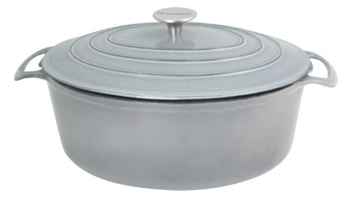 Le Cuistot Vieille France Enameled Cast-Iron 8.5 Quart Oval Dutch Oven - Classy Grey