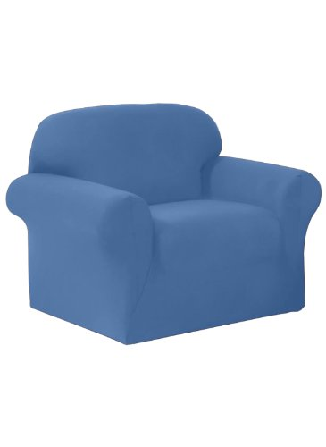 ey Recliner Slipcover, Large, Solid, Blue ()