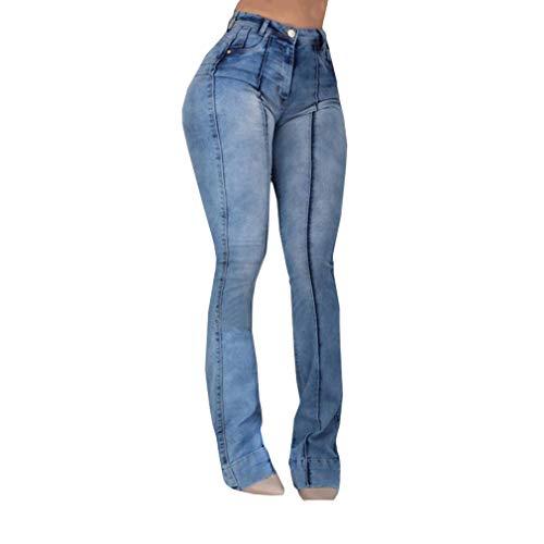 xier Mujeres De Cintura Alta Jeans Largos Pantalones de ...