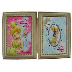 Disney Princess Tinkerbell clock & Picture Frame set