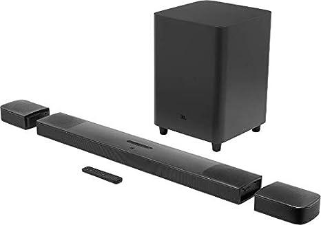 JBL Bar 9.1 - Barra de Sonido con la Potencia de Dolby Atmos, Subwoofer y Dos Altavoces envolventes inalámbricos y Soporte de Streaming de Google Chromecast y Apple Airplay 2, Color Negro