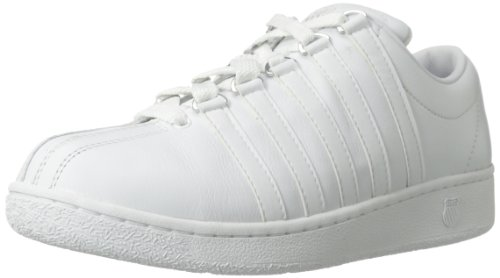 K-Swiss Women's Classic LX Lace-Up Fashion Sneaker,White,7.5 XW US