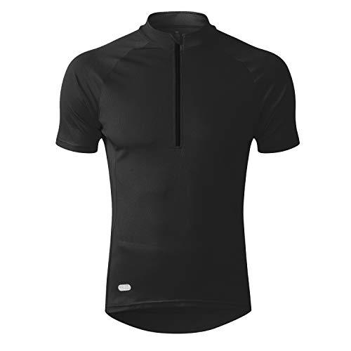 INBIKE Cycling Jersey Men, Short Sleeve Shirt Bike Accessories Running Tops Bike Biking Shirt Black XXXL