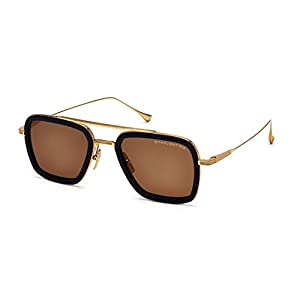 Sunglasses Dita FLIGHT. 006 7806 D-NVY-GLD Navy-18K Gold w/Dark Brown-AR