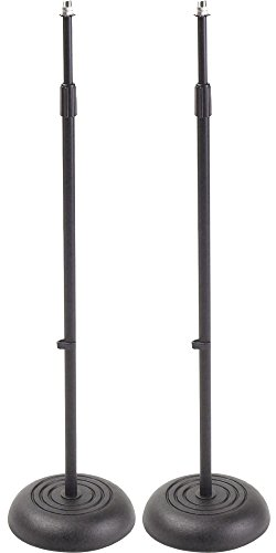 proline-ms235bk-round-base-mic-stand-2-pack-black