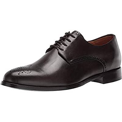 MARC JOSEPH NEW YORK Mens Leather Oxford Lace-Up Wingtip Dress Shoe, Graphite Brushed Nappa, 8.5 M US | Oxfords
