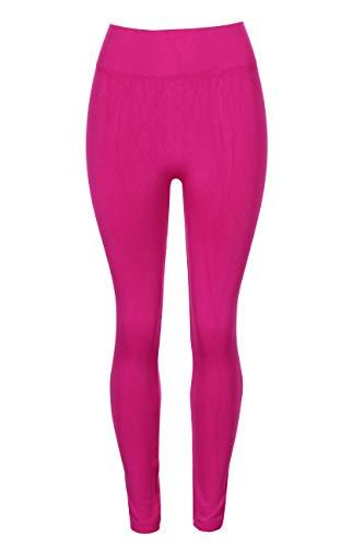 - Crush Women Seamless Full Length Solid Legging Pants Large X Large Fuchsia