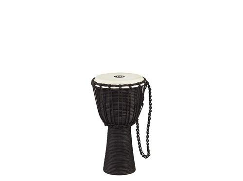 Meinl Percussion Djembe with Mahogany Wood - NOT MADE IN CHINA - 8'' Small Size Rope Tuned Goat Skin Head, 2-YEAR WARRANTY, Black, inch (HDJ3-S)