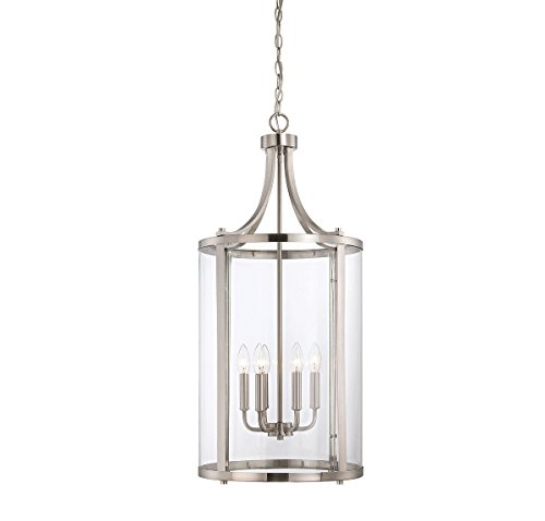 Savoy House 7-1041-6-SN, Penrose 6-Light Medium Foyer Lantern, Satin (Nickel Lantern Pendant)