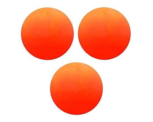 Champion Sports Soft, Safe Indoor/Outdoor Street Floor Hockey Balls, 3 Pack, Orange
