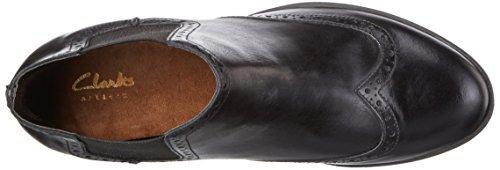 Clarks Damen Calne cristie Schlupfstiefel Schwarz (Black Leather)