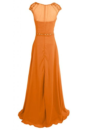 donna Orange Maxi sera da Pageant abito