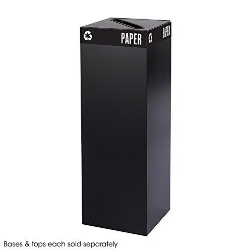 - Public Square Recycling Trash Can, Base, 42 Gallon