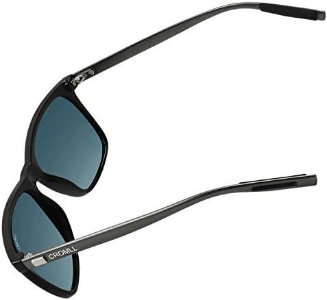 Sunglasses for Men and Women,CROMLL Unisex Polarized Aluminum Magnesium Sunglasses Vintage Sun Glasses