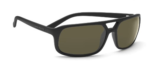 Serengeti Livorno Sunglasses (Satin Black 555nm Polarized)