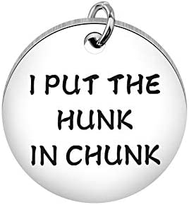 Funny Dog Cat Pet ID Tag I Put The Hunk in Chunk Stainless Steel Pet Tags Pet Gifts ID Tag for Dogs (Hunk in Chunk tag)