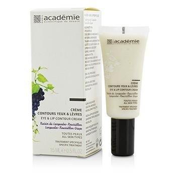 Academie Aromatherapie Eye And Lip Contour Cream, For All Skin Types, 0.5 Ounce