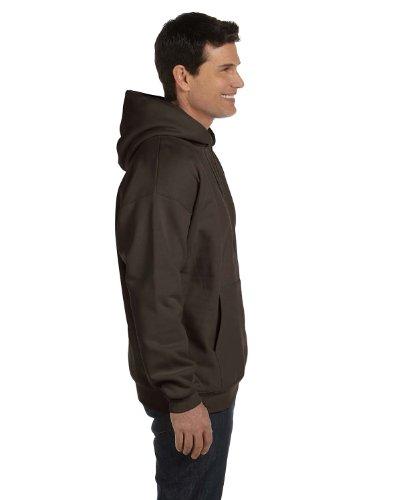 - Hanes mens 9.7 oz. Ultimate Cotton 90/10 Pullover Hood(F170)-Dark Chocolate-L