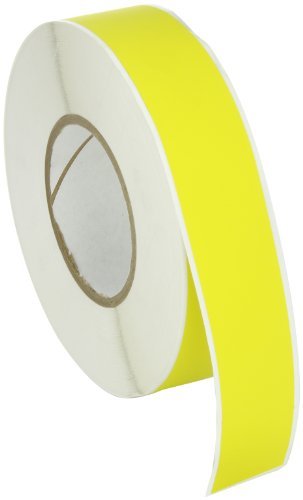 Brady THT-105-437-YL Self-Extinguishing Tedlar Thermal Transfer Printable Labels , Yellow (1 Roll, 1 Roll per Package) by Brady