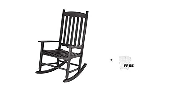 Fabulous Mainstay Outdoor Rocking Chair 1 Black Free Cleaning Wipes Creativecarmelina Interior Chair Design Creativecarmelinacom