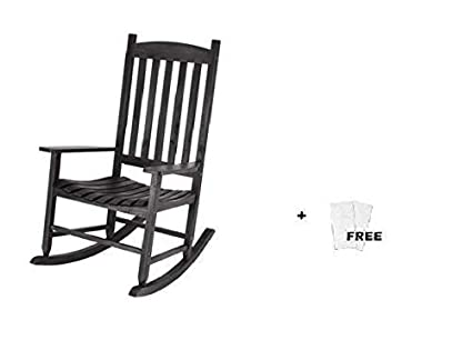 Terrific Mainstay Outdoor Rocking Chair 1 Black Free Cleaning Wipes Creativecarmelina Interior Chair Design Creativecarmelinacom