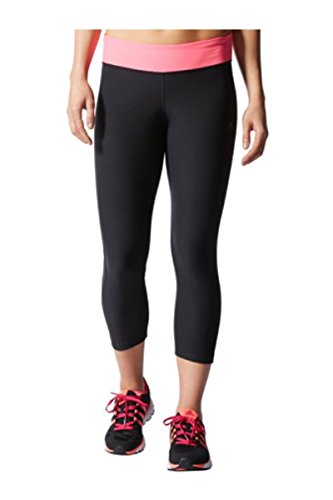 Adidas Climate Ultimate Fit Women's Athletic Crop Pants (X-Large, Black/solar Pink)