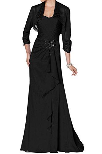 Chiffon Abendkleid Ivydressing Damen Lang Festkleid Bolero Exquisite Mutterkleid Mit Schwarz Herz Ausschnitt Steine 8Oq81Pwr