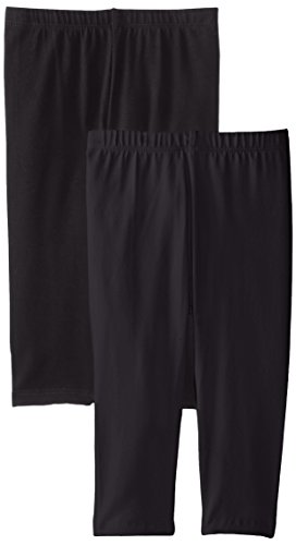 The Children's Place Little Girls' Cropped Legging (Pack of 2), Black, Small (5/6) by The Children's Place