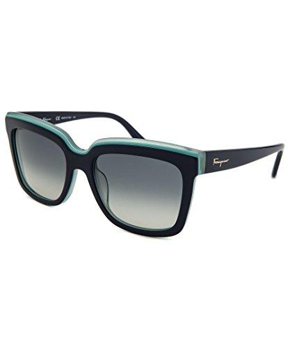 Salvetore Ferragamo Women's Colorblock Sunglasses, Blue Turquoise, One - Sunglasses Women Ferragamo For