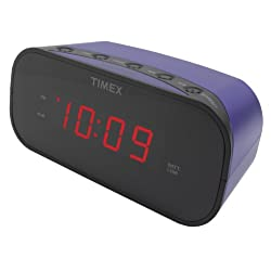 Timex T121U Alarm Clock with 0.7-Inch Red Display (Purple)