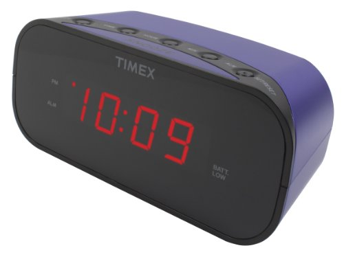 Timex T121U Alarm Clock with 0.7-Inch Red Display (Compact Analog Scale)