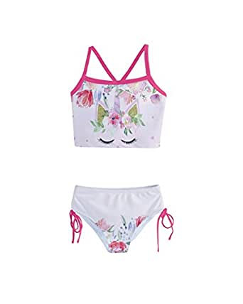 4d64f009f9 Image Unavailable. Image not available for. Color: PattyCandy Little Girls'  Elegant Sleeping Unicorn Kids Tankini Swimsuit ...