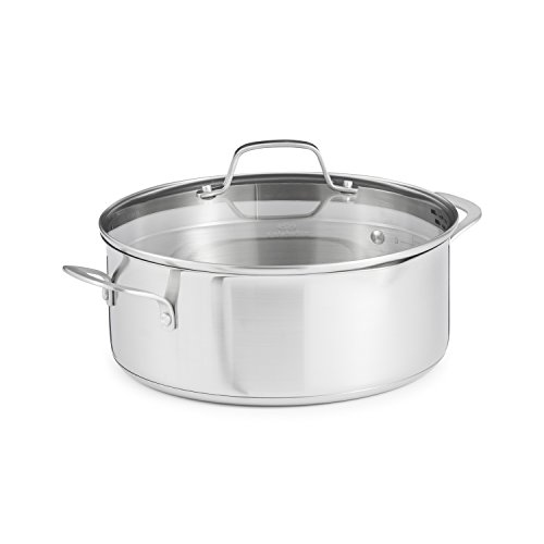 Calphalon Classic Stainless Steel Cookware, Dutch Oven, 5-quart ()