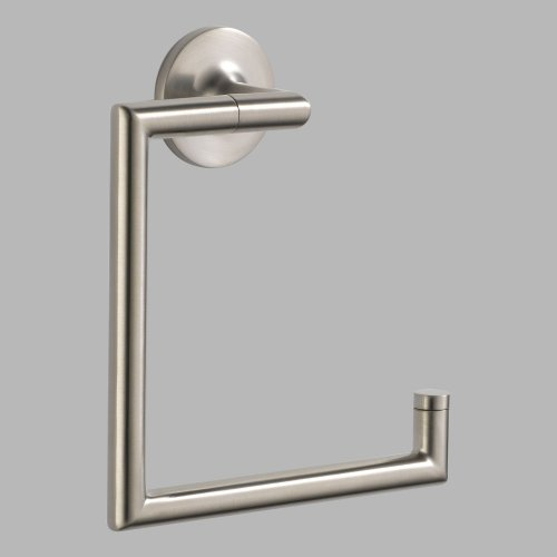 - Brizo 694675 Towel Ring from the Odin Collection, Brushed Nickel